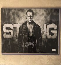 STING TNA WWE WCW Autographed 11x14 Photo  Witness by JSA