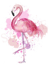 Flamingo Art Iron On Transfer with FREE protective wallet & instructions