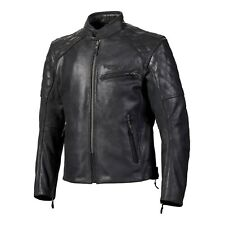 Triumph Arno Quilted Black Leather Motorcycle Jacket NEW MLHC18107
