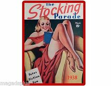 Pinup Girl The Stocking Parade Magazine Cover March 1938 Refrigerator Magnet