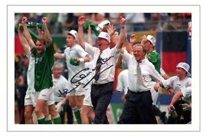 JACK CHARLTON Signed Autograph PHOTO Fan Signature Gift Print IRELAND Soccer