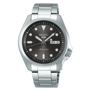 Seiko 5 Sports 40mm Full Stainless Steel Grey Dial Automatic Watch - SRPE51K1