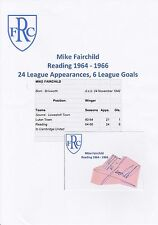 MIKE FAIRCHILD READING 1964-1966 ORIGINAL HAND SIGNED CUTTING/CARD