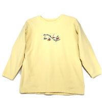 Newport Beach California Sweatshirt Womens Size L Large Yellow Embroidered