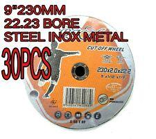 "30 x 9"" 230MM STEEL METAL  CUTTING DISC WHEEL THIN ANGLE GRINDER CUT OFF"