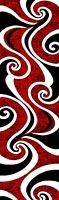 PREMIUM 3D Hand Carved Modern 2X7 2X8 Runner Rug Contemporary 327 Red Black