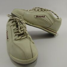 Brunswick Bowling Shoes Women's Size 5.5 White Non Marking Sole Athletic