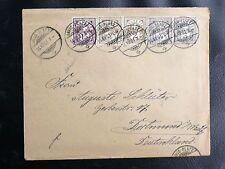TIMBRES DE SUISSE : 2 + 3 Rappen EN PAIRE - BEAU PLI  DAVOS-PLATZ du 14 XII 1901