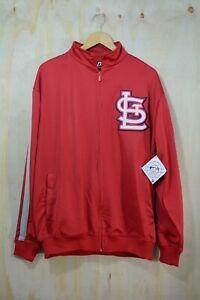 NWT St. Louis Cardinals - Large logo applique full zip jacket, size L