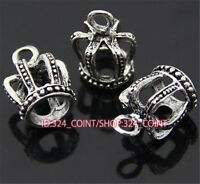50pc Tibetan Silver Rose Key Pendant Bracelet Necklace Charms Findings P268