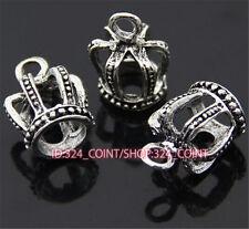 P802 12pc Tibetan Silver crown Charm Beads Pendant accessories wholesale