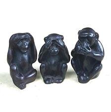 Set Of Three Monkeys No See Speak Hear Evil Resin figurine Amulet TRUTHS OF MAN