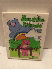 Dirty KidsVintage Vanity Compact Sunshine Friends Mirror Toy  1981 Minnetonka MN