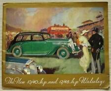 WOLSELEY 10/40 HP et 12/48 HP berline & coupé les ventes automobiles brochure AVR 1936