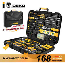 DEKO 168 Socket Wrench Tool Set Combination Package  Auto Repair Mixed Tool