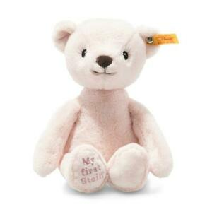 My First Steiff Bear EAN 242137 26cm Pink Plush soft toy baby gift New