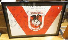 .1990s ST GEORGE RUGBY LEAGUE SIGNED & FRAMED JERSEY. RAPER, PROVAN, LANGLANDS