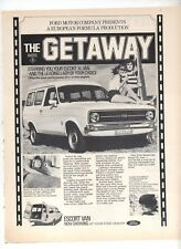 Ford Escort XL Panel Van The Getaway Original Advertisement from a magazine