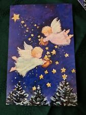 Christmas Postcards Unused Picture of Angels Spreading stars on Trees Lot of 13