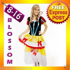 8408 Ladies Snow White Queen Princess Disney Fancy Dress Up Halloween Costume