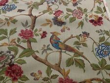 1Y SCALAMANDRE FAISAN ON HESSIAN-ORIGINAL CHINOISERIE THICK! MSRP$496