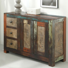 Kommode Sideboard Goa Schrank in Massivholz Mango Vintage Used-Look Multicolor