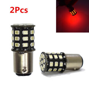 2XRed 1156 706 P21W BA15s S25 33-SMD-2835 LED Bulb For Car Tail Brake Stop Light