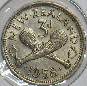 New Zealand 1958 3 Pence 903653 combine