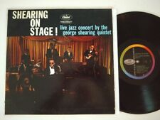GEORGE SHEARING QUINTET LP SHEARING ON STAGE 1959 CAPITOL T 1187 SCRANTON PRESS