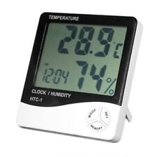 Digital LCD Temperature and Humidity Meter Clock Alarm X6O1