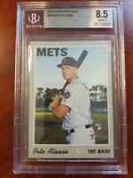 PETE ALONSO 2019 Topps Heritage HIGH NUMBER SP RC #519! BGS 8.5 NM-MINT METS!