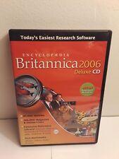 Encyclopedia Britannica 2006 Deluxe CD (3 CD-Roms, 2006, Windows/Mac)