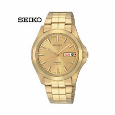 Seiko Mechanical Men's Gold Plated Band Wristwatches