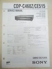 Sony Service/Repair Manual~CDP-C460Z/CE515 CD Player~Original