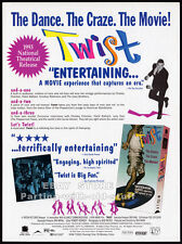 Ron Mann's - TWIST__Original 1993 Trade Print AD movie promo__CHUBBY CHECKER