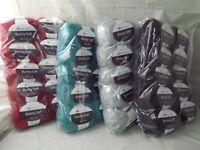 1 Sealed 10 Pack Skeins Berlini Bunny Soft fuzzy plush fashion yarn, 80 yds each