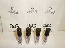 Dolce & Gabbana 10 La Roue De La Fortune Women EDT Sample Spray Vial .05 oz x4PC