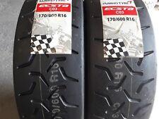 2 x 170/600/16-16 inch kumho co3/rally tyres/race tyres/trackday tyres/circuit