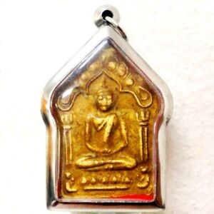 Thai Buddha Amulet Old Statue LP Pendant AYUTTHAYA Buddhist Art Antique gorgeous