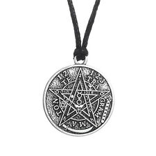 Supernatural Tetragrammaton Pentagram Pentacle Gothic Punk Wicca Men Necklace