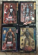 "HASBRO MARVEL LEGENDS 12"" ACTION FIGURE LOT (4) DEADPOOL,THOR,SPIDER-MAN BLACK P"