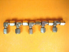 """Parker  3/16"""" Tube  Brass Union Elbow Lot of 5"""
