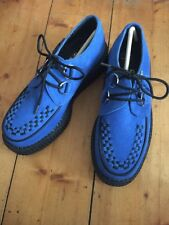 New Authentic TUK Electric Blue Creepers Mondo Lo Sole shoes size UK 4