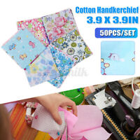 50/100x DIY Square Floral Cotton Fabric Patchwork Cloth For Craft Sewing 10x10cm