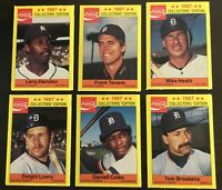 1987 Detroit Tigers Coca Cola 18 Card Baseball Set Unopened 6-3 packs Coke Promo