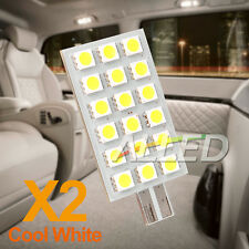 2X12V T10 SMD LED Wedge Bulb Cool White Caravan/Boat/Reverse/Tail/Indictor Lamp