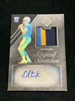 2019 Panini Majestic Easton Stick Rookie Auto 3 Color Jersey Patch /99 Chargers