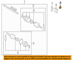 NISSAN OEM 07-12 Versa Drive Axles-Front-Axle Seal Right 383428E001