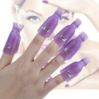 10pc bouchon plastique nail art gel bain dissolvant pour vernis uv synthèse TY1