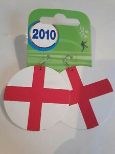 Large Disc England Dangle Earrings.  New